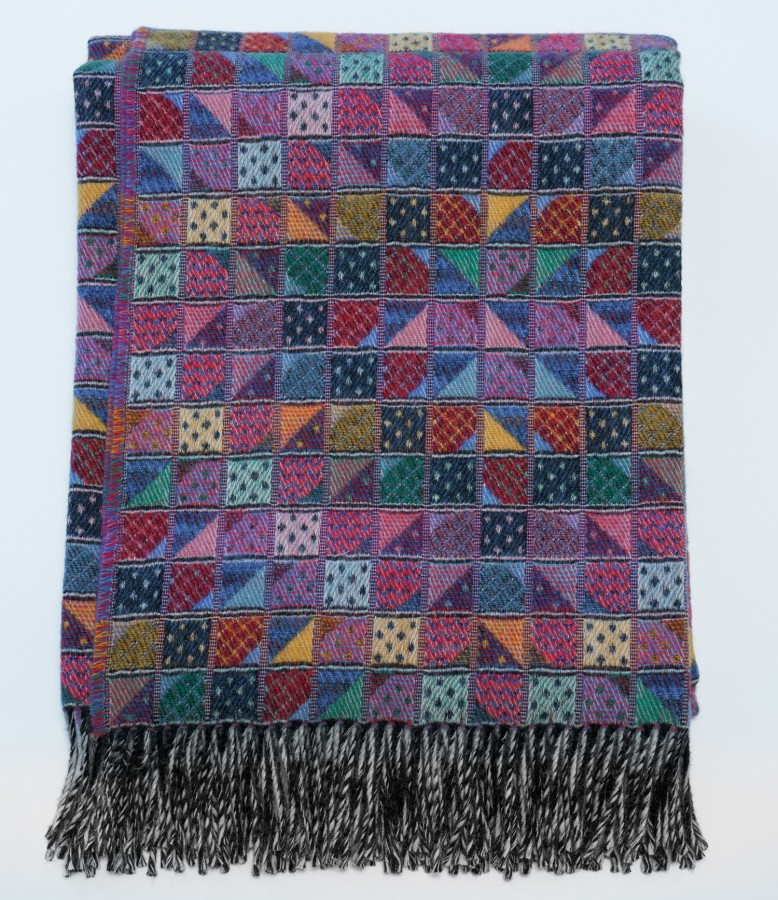 Colorful Knitted Wool Blanket - Throw