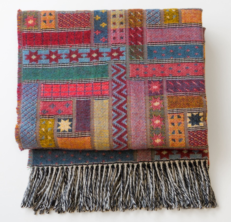 Colorful Wool Blanket - Throw