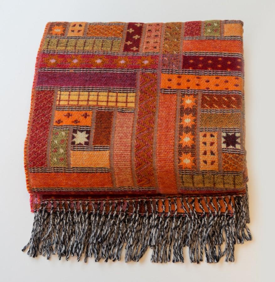 Orange Wool Blanket - Throw