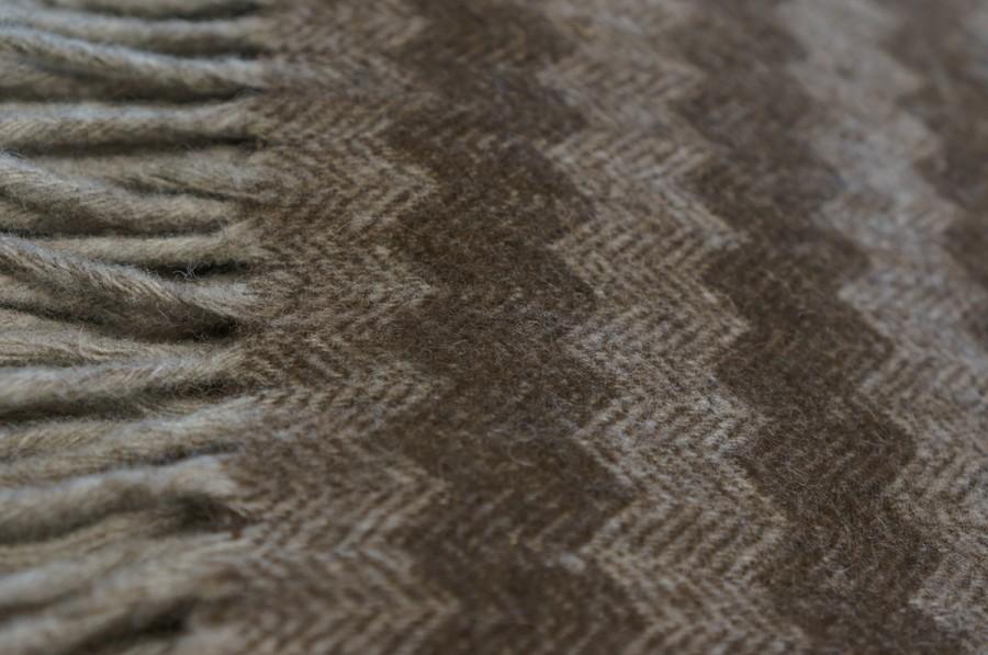 Brown Merino Wool Blanket - Throw