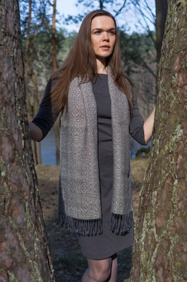 Grey Linen Shawl