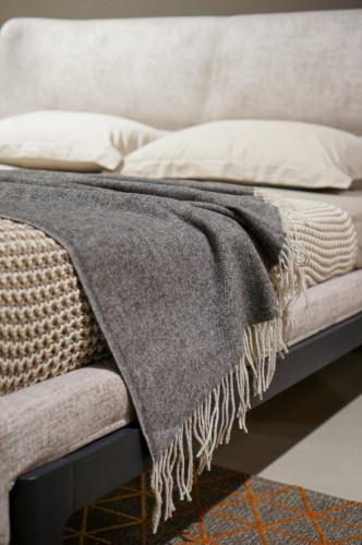 Gray Merino Wool Blanket Throw