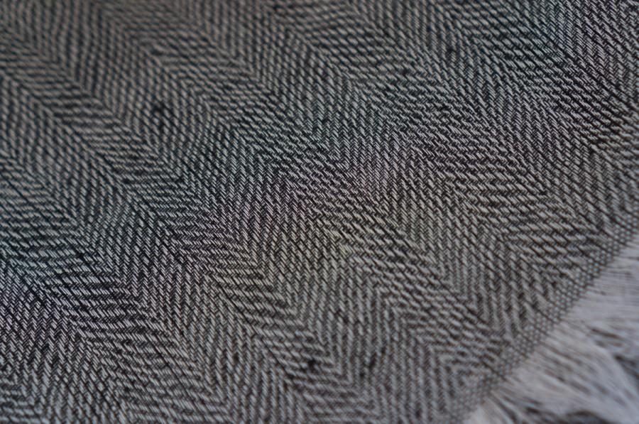 Grey Striped Linen Shawl (Female)
