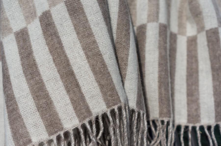Pastel and Dark Brown Blanket - Throw