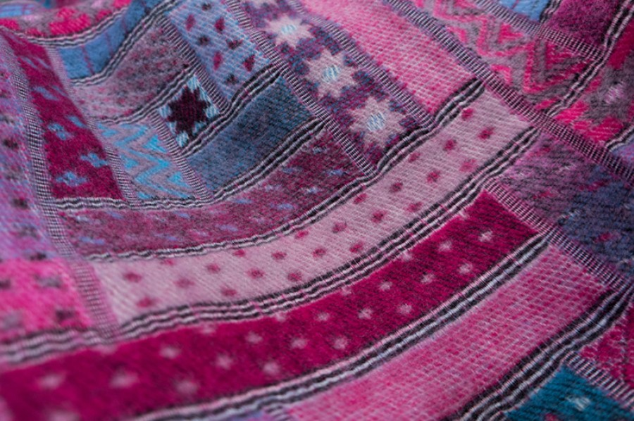 Purple Wool Blanket - Throw